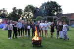 Lockdown Leavers campfire and toasting marshmallows
